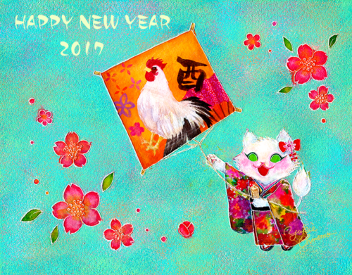 happy new year 2017_MOMO illustration