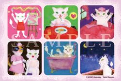 猫シリーズポストカード1